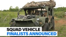 New infantry squad vehicle finalists announced