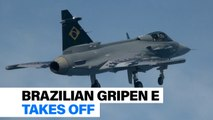 Brazil's first Gripen E takes off