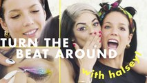 Halsey Gives Her MUA the Craziest Rainbow Eye You've Ever Seen | Turn the Beat Around | Cosmopolitan