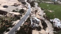 Aerial footage from Bahamas storm zone shows widespread destruction