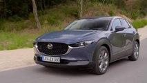 2019 Mazda CX-30 in Polymetal Grey Driving in Girona