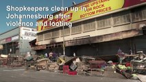 Shopkeepers clean up after xenophobic attacks in South Africa