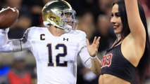 Notre Dame QB Ian Book Throws Football RIGHT At Cheerleader's Face And BREAKS Her Nose!