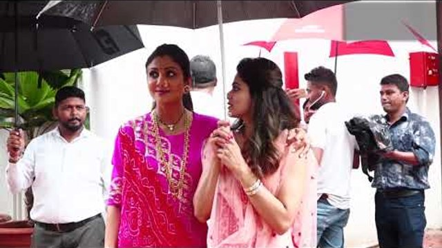 Ganpati Visarjan with Shilpa Shetty