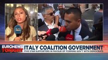 Members of Itay's Five Star Movement vote 79% in favour of coalition with Democratic Party