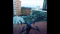 Et si on sortait le drone pour filmer... Raté