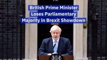 Prime Minister Boris Johnson Loses The Majority