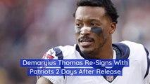 Demaryius Thomas Goes Back To The Patriots