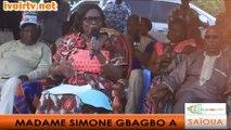 SAÏOUA : MADAME SIMONE EHIVET GBAGBO INVITE LES POPULATIONS A DESARMER LEUR COEUR