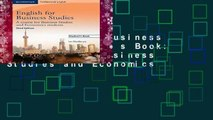 English for Business Studies Student s Book: A Course for Business Studies and Economics