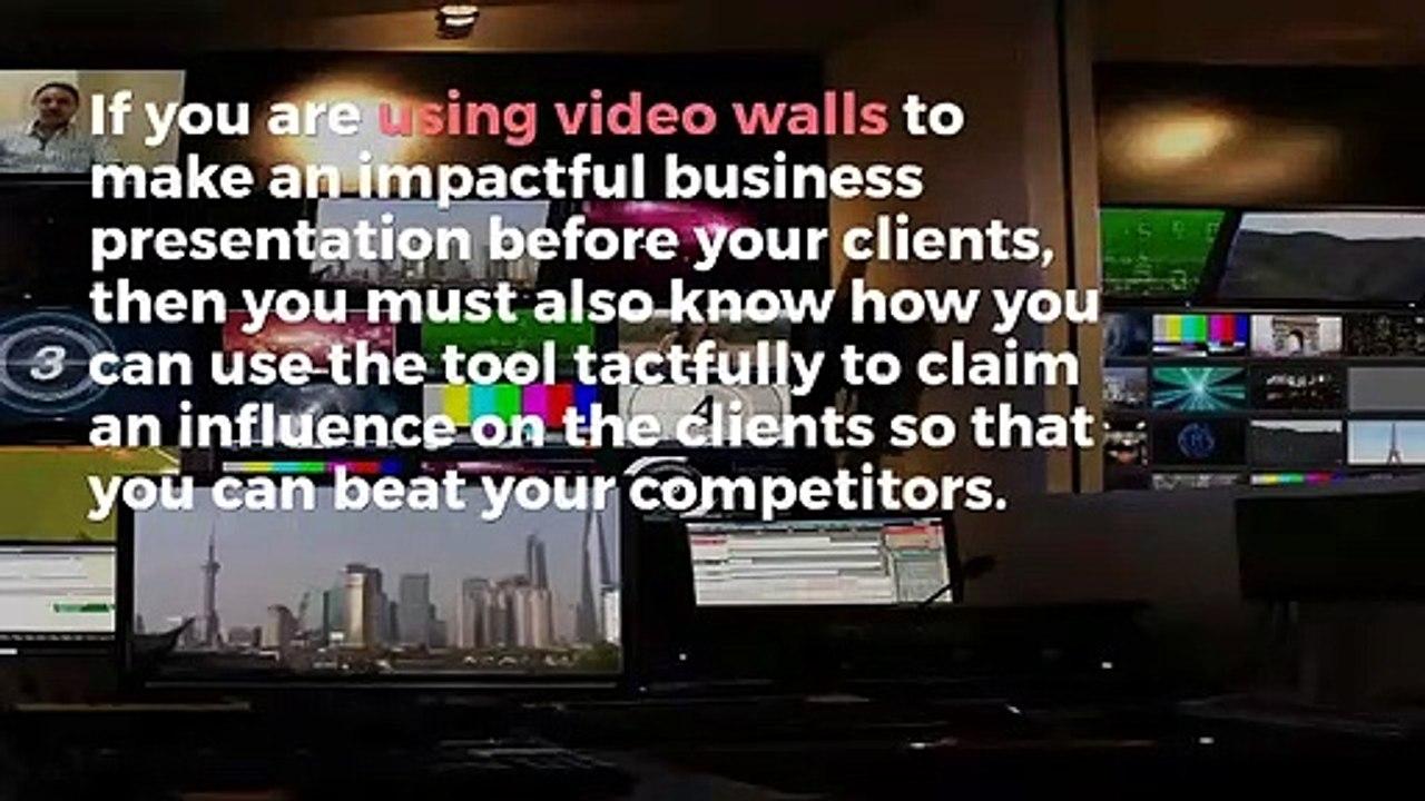 Boost Business Events via Video Walls