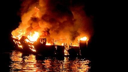 California boat fire: Search suspended, 34 presumed dead