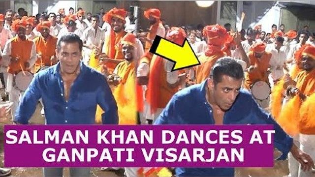 Salman Khan dances his heart out at Ganpati Visarjan 2019