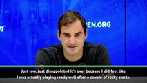 Just disappointed it's over - Federer