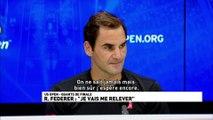 """R.Federer : """"Je vais me relever"""""""