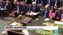 Brexit showdown: PM Boris Johnson faces MPs a day after Brexit 'no deal' defeat