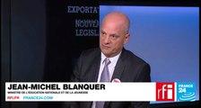 [Vidéo] Jean-Michel Blanquer, ministre de l'Éducation nationale