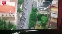Çatıda esrar yetiştirenler, bisiklet yarışını görüntüleyen helikopter kamerasına yakalandı