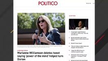 Marianne Williamson Suggested 'Power Of The Mind' Turned Hurricane Dorian Away In Now-Deleted Tweet