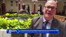 Condenan en el exilio declaraciones de la ministra de Educacion de Cuba