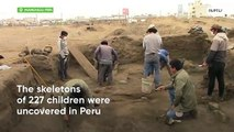 227 skeletons of children unearthed in Peru