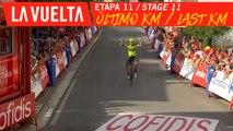 Ultimo kilómetro / Last kilometer - Étape 11 / Stage 11 | La Vuelta 19