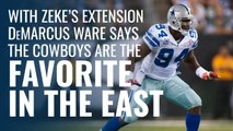 DeMarcus Ware reacts to Cowboys signing Zeke extension