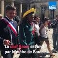 Le chef Raoni invité du maire de Bordeaux, Nicolas Florian