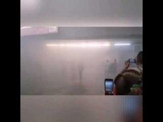 Se incendia la estación Balderas del Metro de la CDMX