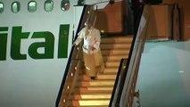 Papa desembarca em Moçambique