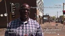 Des commerçants réagissent après les pillages à Johannesburg