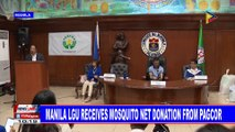 Manila LGU receives mosquito net donation from PAGCOR