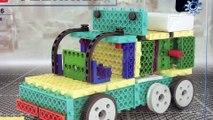 Blocks Trailer Kit Motorized DIY Construction Tecnical HIQ - Unboxing Demo Review