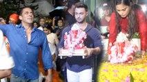INSIDE   Salman Khan's CUTE MOMENTS   Ganpati Visarjan 2019   Daisy Shah, Aayush Sharma, Arbaaz Khan