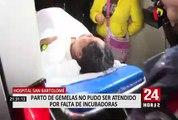 Caso incubadoras: gemelas que sobrevivieron en el Hipólito Unanue permanecen en Unidad de Cuidados Intensivos