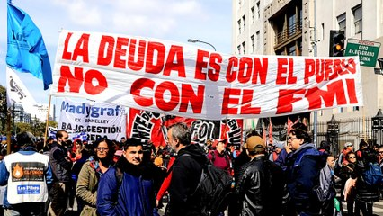Argentina's markets hold steady as protesters take to the streets