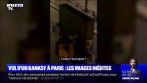 Les images inédites du vol de l'œuvre de Banksy en plein Paris le week-end dernier