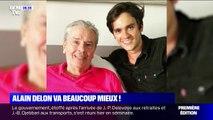 Le fils d'Alain Delon donne des nouvelles rassurantes sur le rétablissement de son père