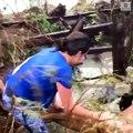 Dorian aux Bahamas: Les images terribles de 4 personnes qui hurlent, emportées par les flots provoqués par l'ouragan