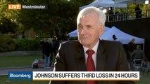 McDonnell Says Labour Consulting With Other Parties on U.K. Election Timing