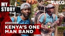 Kenyan man playing ten instruments at once