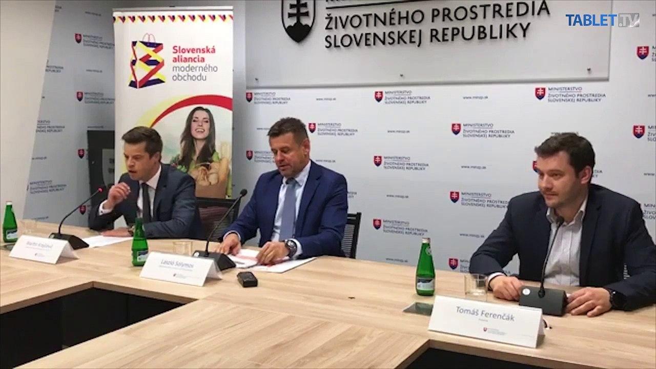 ZÁZNAM: Brífing Ministerstva životného prostredia SR a Slovenskej aliancie moderného obchodu (SAMO)