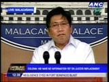 Was PNoy unhappy with Juico? No info, says spokesman