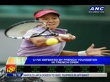 Li Na crashes out of French Open