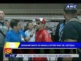 Donaire back in Manila after win vs. Vetyeka