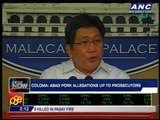 Palace leaves it to prosecutors to probe Abad