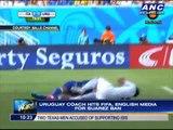 Uruguay coach hits FIFA, English media for Suarez ban