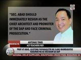 Some lawmakers want PNoy, Abad held accountable for DAP