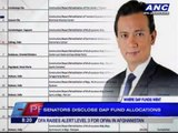 Senators disclose DAP fund allocations