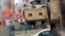 Sultangazi'de otomobil parçalarının bulunduğu iş yerinde yangın 4